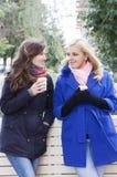 Amies et café Photo libre de droits