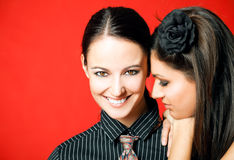 Amies féminines Photo libre de droits