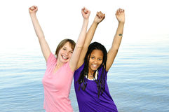 amies heureuses images libres de droits