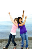 Amies heureuses photos libres de droits