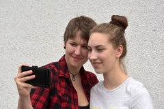 Amies heureuses Photo stock