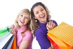 Amies sur des achats Image stock