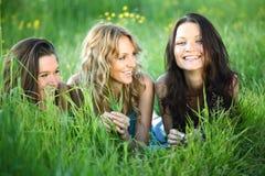 Amies sur l'herbe Photographie stock