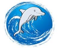 Amigo cinzento do golfinho ilustração royalty free