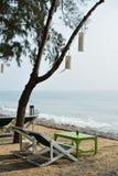 Amigo-es la playa Foto de archivo libre de regalías