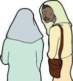 Amigo musulmán en cuestión Foto de archivo