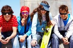 Amigos à moda Foto de Stock Royalty Free