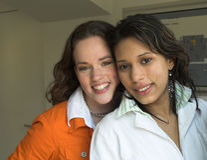 Amigos adolescentes Imágenes de archivo libres de regalías