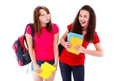 Amigos adolescentes expresivos Fotos de archivo libres de regalías