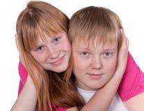 Amigos adolescentes sonrientes Fotografía de archivo