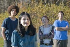 Amigos adolescentes étnicos Fotografía de archivo libre de regalías