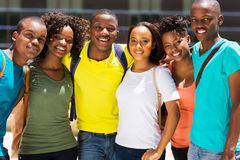 Amigos africanos da faculdade imagem de stock royalty free