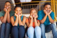 Amigos africanos de la universidad Fotografía de archivo libre de regalías