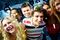 Amigos alegres Fotografia de Stock