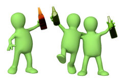Amigos alegres com os frascos da cerveja Imagem de Stock Royalty Free