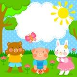 Amigos animais bonitos ilustração stock