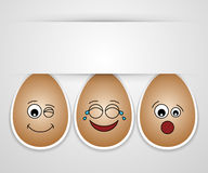 Amigos bonitos engraçados do ovo de easter. Fotografia de Stock