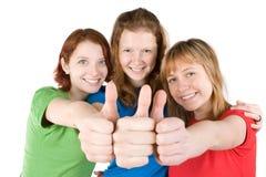 Amigos com polegares acima Foto de Stock
