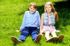Amigos da infância Fotografia de Stock Royalty Free