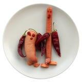 Amigos da salsicha foto de stock