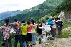 Amigos das excursões Foto de Stock Royalty Free