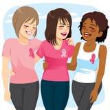 Amigos das mulheres do câncer ilustração stock