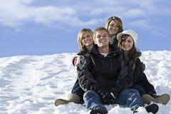 Amigos de la nieve Fotografía de archivo libre de regalías