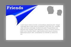 Amigos de la tarjeta ilustración del vector