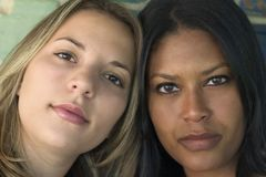 Amigos de las mujeres Fotografía de archivo