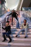 Amigos de moda Imagen de archivo