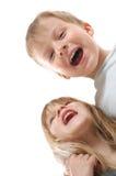 Amigos de risa felices de los niños Imágenes de archivo libres de regalías