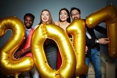 Amigos del Año Nuevo Imagen de archivo libre de regalías
