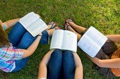 Amigos del estudio de la biblia Imagen de archivo libre de regalías