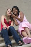 Amigos del teléfono Foto de archivo libre de regalías