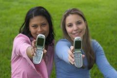 Amigos del teléfono Imagen de archivo