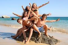 Amigos del verano Foto de archivo libre de regalías