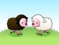 Amigos do cordeiro ilustração stock