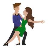 Amigos do partido do vetor da dança do balanço ou de torneira da dança dos pares Fotografia de Stock
