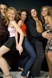 Amigos en el partido Foto de archivo