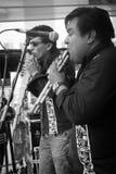 Amigos en la música Foto de archivo libre de regalías