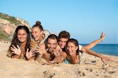 Amigos en tiempo de verano Imagen de archivo