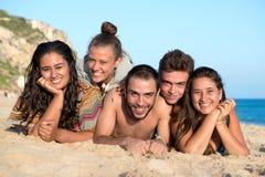 Amigos en tiempo de verano Fotografía de archivo