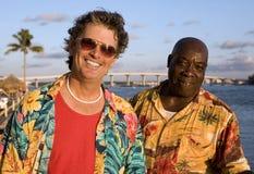 Amigos en vacaciones tropicales Fotografía de archivo
