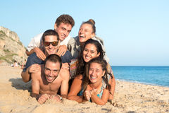 Amigos en verano Fotos de archivo