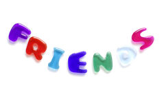 Amigos escritos em letras da geléia Imagens de Stock Royalty Free