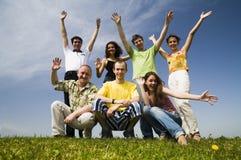 Amigos felices Foto de archivo