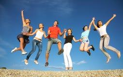 Amigos felices Fotos de archivo libres de regalías