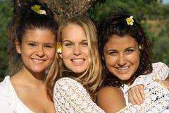 Amigos felices Fotografía de archivo