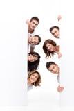 Amigos felices del anuncio Imagenes de archivo