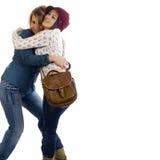Amigos felizes das mulheres novas imagem de stock royalty free
